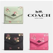 【COACH】Small Wallet With Floral Bow Print * ミニ財布