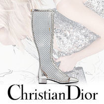 Christian Dior DIOR NAUGHTILY-D レースアップブーツ Silver