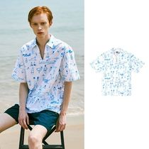 ☆STEREO VINYLS☆ Summer Beach Oxford Popover Shirts