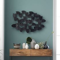Recycled Metal Wall Art - Overlapping Shapes