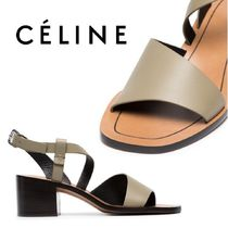 【18SS】大注目!!★CELINE★Green leather 55 strappy sandals