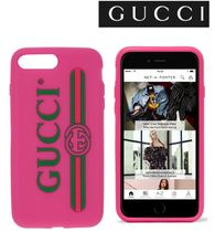 Gucci ピンク ロゴ iPhone 7 Plus ケース