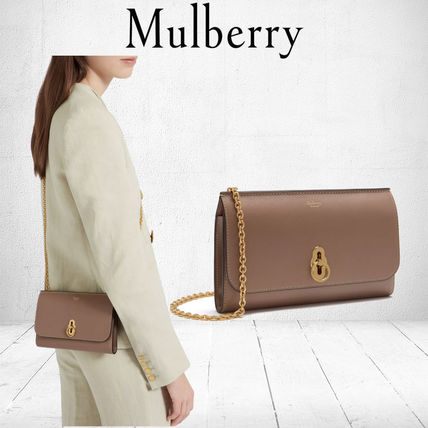 Mulberry 長財布 Mulberry Amberley Clutch チェーンウォレット 送料込