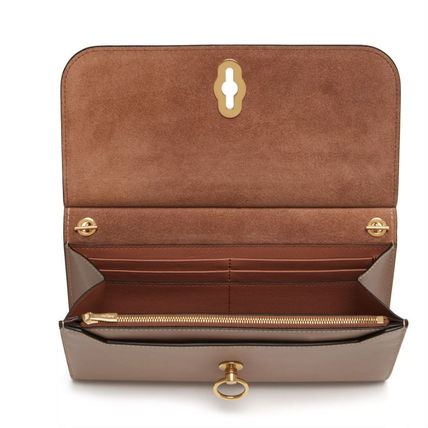 Mulberry 長財布 Mulberry Amberley Clutch チェーンウォレット 送料込(3)