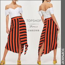 【国内発送・関税込】TOPSHOP★Graphic-stripe crepe skirt