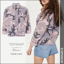 【国内発送・関税込】TOPSHOP★Camouflage-print cotton jacket