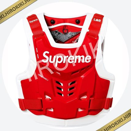 Supreme スポーツその他 【18SS】Supreme Fox Racing Proframe Roost Deflector Vest 赤