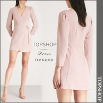 【国内発送・関税込】TOPSHOP★Crepe wrap mini dress