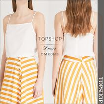 【国内発送・関税込】TOPSHOP★Square-neck crepe cami top