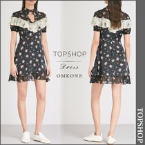 【国内発送・関税込】TOPSHOP★Rodeo ruffled crepe dress