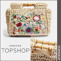 【国内発送・関税込】TOPSHOP★Embroidered Bamboo Tote Bag