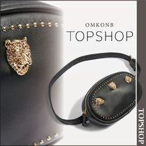 【国内発送・関税込】TOPSHOP★Black Studded Bum Bag