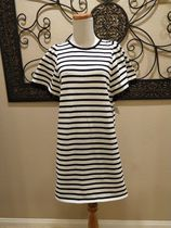 US完売ワンピースkate spade☆stripe flutter sleeve dress