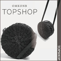 【国内発送・関税込】TOPSHOP★Barbar Straw Cross Body Bag