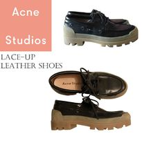 ACNE Pre-owned Leather Lace Ups レースアップラバーソール