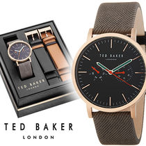 Ted Baker メンズ Textured Canvas レザー 腕時計 10031560