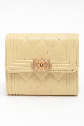 CHANEL《BOY CHANEL》 compact wallet
