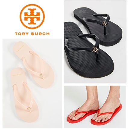 Tory Burch サンダル・ミュール 【TORY BURCH】Solid Thin Flip Flops  * ビーチサンダル