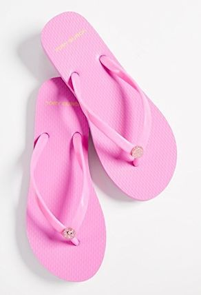 Tory Burch サンダル・ミュール 【TORY BURCH】Solid Thin Flip Flops  * ビーチサンダル(19)