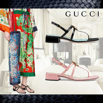 **Gucci**グッチ★Patent leather sandal with beeサンダル2色