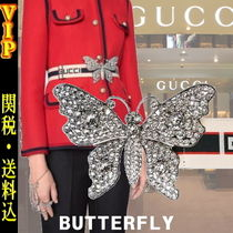 """◆◆VIP◆◆ GUCCI  """"Crystals BUTTERFLY"""" ストライプ ロゴ Belt"""