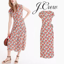 J.Crew 70年代風フローラル♡Mercantile Easy Wrap Dress