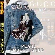 "◆◆VIP◆◆ GUCCI  ""PEARL EMBELLISHED "" DENIM Gジャン/送税込"