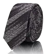 ☆SAINT LAURENT☆ Metallic-Striped Silk Necktie