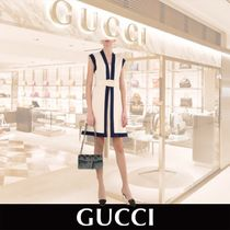 GUCCI jersey midi Dress with GG belt アイボリー関税送料込み