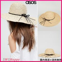 ★ Natural Straw Floppy Hat with Plait Band