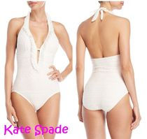 Sale!  kate spade  Ruffled Crochet Plunging ワンピース水着