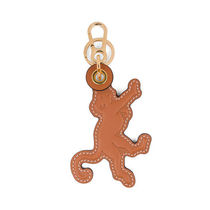【LOEWE】Monkey Leather Charm Tan/Primary Red キーリング