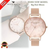 NEW☆◆Olivia Burton◆淡いピンク Semi Precious Big Watch