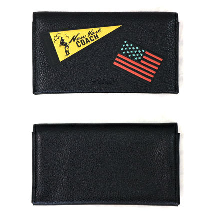 Coach スマホケース・テックアクセサリー 国内即発可☆COACH☆UNIVERSAL PHONE CASE WITH MIXED PATCHES(2)