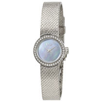 稀少Dior(ディオール)La Mini D de Satine Diamond Ladies Watch