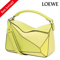 VIPセール♪最新作 LOEWE Puzzle 6Wayバッグ,Yellow Multitone