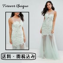 Forever Unique(フォーエバーユニーク) ワンピース Forever Unique レース インサート マキシドレス