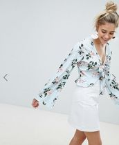 ASOS☆PrettyLittleThing☆Floral ☆Tie Front☆ブラウス