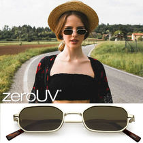 全4色zeroUV*TRENDING DAPPER SMALL RETRO GEOMETRIC SLIM METAL