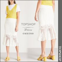 【国内発送・関税込】TOPSHOP★High-rise crochet skirt
