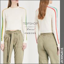 【国内発送・関税込】TOPSHOP★Rainbow-stripe knitted top