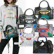 VIPセール!関税込☆【Balenciaga】Graffiti Classic City Mini