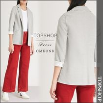 【国内発送・関税込】TOPSHOP★Herringbone cotton-blend jacket