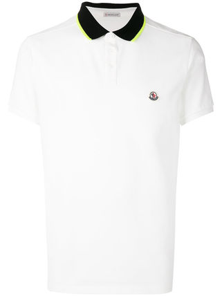 = MONCLER = CONTRAST POLO TOP ポロシャツ ホワイト