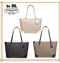 COACH★ZIP TOP TOTE IN SIGNATURE JACQUARD F29958 国内発送!