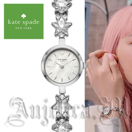★キラッキラ★Kate Spade white star chain watch KSW1392