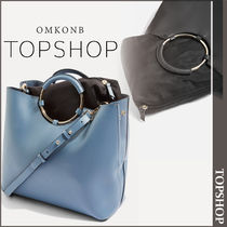 【国内発送・関税込】TOPSHOP★Metal Handle Tote Bag