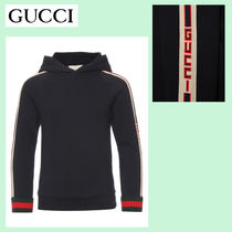 ☆GUCCI☆ ロゴライン・ボーイズパーカ♪ 大人OK・12A!!