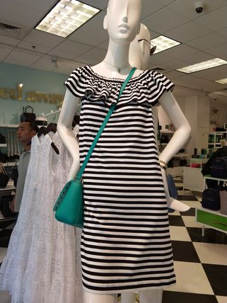 ストライプワンピ!Kate spade★stripe off the shoulder dress