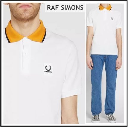 Raf Simons★× Fred Perry コントラスト襟 ポロシャツ*ホワイト